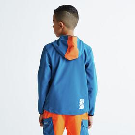 Dare 2b Refrain Softshell Jacket Kids Kingfisher Blue/Shocking Orange